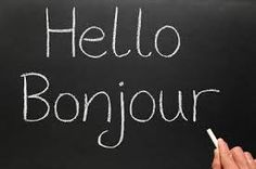 How to Learn a Foreign Language - The 100 words that comprise of every conversation. Use for aphasia too? Learn French Online, Learn To Speak French, Hello Bonjour, French Conversation, French For Beginners, Learning Cards, Spanish Phrases, 100 Words, French Lessons