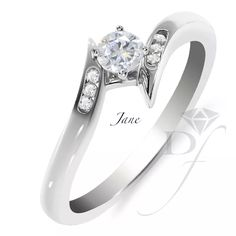 ¡Anillos de compromiso con diamantes naturales a precios increíbles!    Anillo de compromiso en oro blanco 14k con diamante .20ct 60dce80e6f