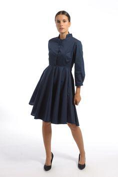 Šaty s košeľovým živôtikom a kruhovou sukňou Klasické šaty inšpirované  historickou eleganciou. Oblúkové členenie v 87198169184