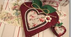 Como comenté ayer cuando os enseñé el taller  Kit Costura ,  hoy os traigo el segundo taller   de la Colección Corazón de Manzana   se ... Pincushions, Pot Holders, Quilting, Cross Stitch, Hearts, Kit, Dolls, Scissors, Feltro