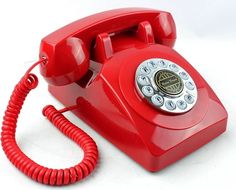 Paramount PMT-1950-DESKPHONE-RD 1950 Desk phone, Touch tone rotary design - Red #Paramount