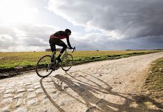 Testing out the cobbles at #parisroubaix can't wait for tomorrow!