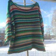 Løs bluse | Strikkeglad.dk