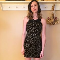 """sparkle & fade knit studded bodycon dress urban outfitters dress that beautifully shapes the silhouette, perfect for a warm summer night out. excellent condition, only worn once. model is 5'4"""" & 110 lbs. Sparkle & Fade Dresses"""