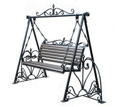 Iron Furniture, Garden Furniture, Outdoor Furniture, Outdoor Decor, Swing Design, Patio Swing, Backyard Patio Designs, Backyard Retreat, Garden Seating