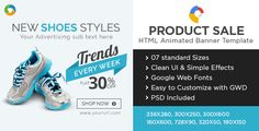 E-Commerce HTML5 Banners - Google Web Designer . E-Commerce & Product Sale HTML 5