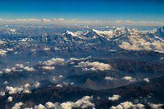 Himalayas mountain range seen at feet on air Mountain Range, Nepal, Beverly Hills, Mount Everest, Mountains, Landscape, Wall Art, Photography, Travel