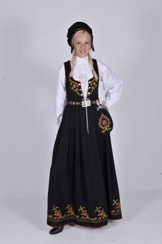 Nedre Buskerud, dame Art Costume, Folk Costume, Costumes, Norwegian Clothing, Norwegian Wedding, Medieval Dress, Traditional Dresses, Norway, Clothes