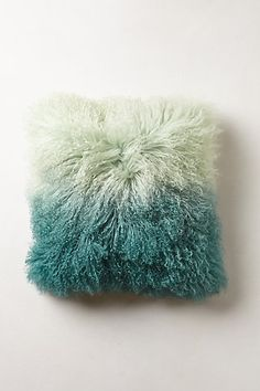 Ombre Luxe Fur Pillow #anthropologie Do with Mongolian lamb pillow from Ikea and dip dye!