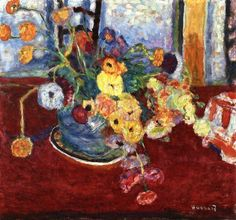 Flowers on a Red Carpet ~ Pierre Bonnard