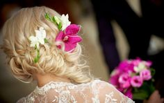 Refined bridal hairstyle decorated with flowers :: one1lady.com :: #hair #hairs #hairstyle #hairstyles