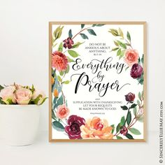 Available in 7 sizes including large 16x20 and A2 #scriptureart #faithart #dontworry #giftforher #prayer #prayalways #believe #believer  Bible Verse Wall Art, Scripture Art, Bible Art, Bible Verses, Printable Designs, Printable Wall Art, Pray Always, Christian Posters, Poster On