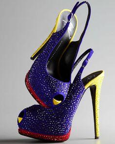 sooo '80's shoes-With-Swarovski-Crystals