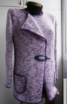 Purple Wool Long Sleeve Casual Plus Size Outerwear Daily Fashion, Girl Fashion, Purple Outfits, Plus Size Outerwear, Skirts With Pockets, Fall Wardrobe, Cardigans For Women, Types Of Sleeves, Going Out