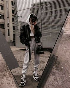#Moda #chicas Winter Mode Outfits, Chill Outfits, Winter Fashion Outfits, Cute Casual Outfits, Look Fashion, Casual Clothes, Fashion Clothes, Fashion Mode, Dress Clothes