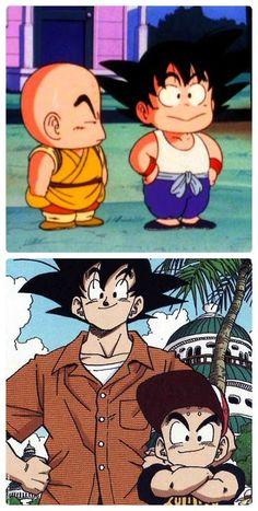 Goku and Krillin / Dragonball Dragon Ball Gt, Dragon Z, Manga Anime, Anime Art, Kid Goku, Akira, Familia Anime, Bd Comics, Animes Wallpapers