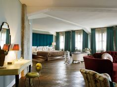 Room view from the Soho House, Berlin; Truly elegant. (Photo © Soho House Berlin) | #InteriorDesign #Interiors |