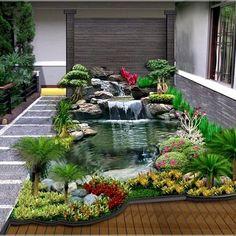 7 Wall Decorations You Have Never Imagined Before Backyard Patio Designs, Ponds Backyard, Tiny Garden Ideas, Courtyard Design, Home Aquarium, Luxury Decor, Minimalist Home, Garden Planning, Beautiful Gardens