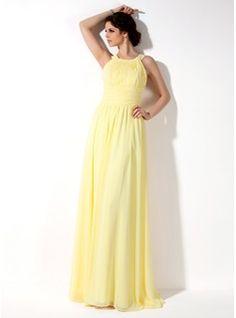 Bridesmaid Dresses - $112.99 - A-Line/Princess Scoop Neck Floor-Length Chiffon Bridesmaid Dress With Ruffle  http://www.dressfirst.com/A-Line-Princess-Scoop-Neck-Floor-Length-Chiffon-Bridesmaid-Dress-With-Ruffle-007022521-g22521