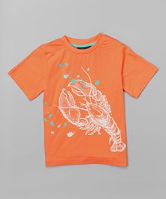 Love this Apricot Lobster Tee - Toddler & Boys on #zulily! #zulilyfinds
