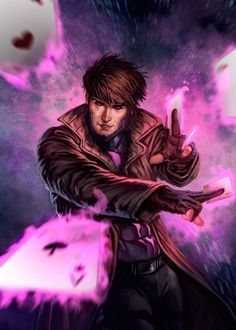 /r/ImaginaryMutants - The art of the X-Men and all mutants from their universe. Marvel Comics, Gambit Marvel, Gambit X Men, Rogue Gambit, Marvel Comic Books, Comic Book Characters, Marvel Characters, Comic Character, Comic Books Art