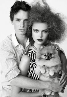 Hmmm, Eddie Redmayne and a puppy. I want to go to there.