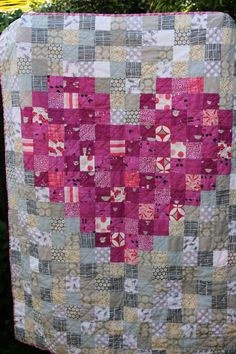 Heart Quilt Quilts, Heart, Unique Jewelry, Handmade Gifts, Etsy, Vintage, Kid Craft Gifts, Quilt Sets, Craft Gifts