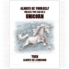 Poster, Unicorn, Always be yourself