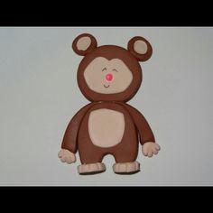 Mono hecho en Masa Flexible. Animales de la Selva. Jungle Friends Polymer Clay