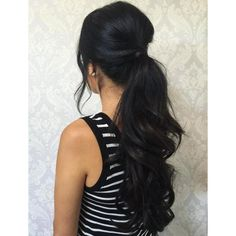 Wavy Ponytail For Long Hair | Long Hairstyles To Make You Look Great |... ❤ liked on Polyvore featuring beauty products, haircare and hair styling tools