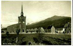 Nordland fylke Narvik Kirken og bebyggelse Utg Julius Brekke brukt 1930-tallet