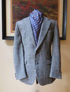 Vintage Grey Herringbone Harrris Tweed Men's by inVintageCondition, $50.00
