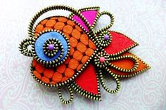 Koi Fish Felt zipper brooch (For Hat Jacket Coat) - LoveItSoMuch.com