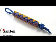 In this tutorial we make a colorful paracord knife lanyard. Or key fob :). This key fob is made using a 3 pass gaucho fan knot tied out of a 2 bight turk's h...
