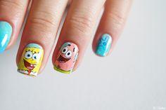Nail art Bob l'éponge - Patrick --- Sponge Bob Nail Design - Patrick