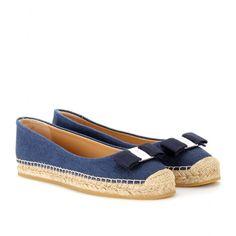 mytheresa.com - Salvatore Ferragamo - BLAKE ESPADRILLE BALLERINAS - Luxury Fashion for Women / Designer clothing, shoes, bags