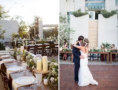 Estate Marsala Wedding - bohemian inspired table settings