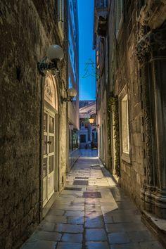 Split at night (Croatia)
