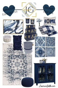 All Details You Need to Know About Home Decoration - Modern Blue And Gold Living Room, Blue Living Room Decor, Blue Kitchen Decor, Blue Home Decor, New Living Room, My New Room, Living Room Designs, Bedroom Decor, Bedroom Rustic
