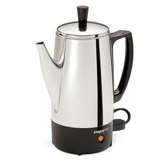 Presto 02822 6-Cup Stainless-Steel Electric Coffee Percolators