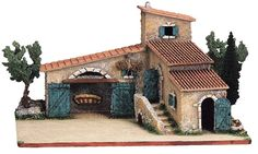 Build your Nativity Scene around this Marcel Carbonel Provencal Farmhouse with Steps and Trees -– Mas Provençale No. 2 - Available at www.mygrowingtraditions.com