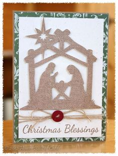 My Christmas Cards this year! Houses Built of Cards: My Christmas Cards this year! Cricut Christmas Cards, Chrismas Cards, Religious Christmas Cards, Christmas Blessings, Homemade Christmas Cards, Cricut Cards, Christmas Cards To Make, Christmas Tag, Xmas Cards