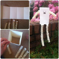 """21 papercraft ideas The paper fellow go to the project """"staircase folding"""" first to find out how to make the arms and legs and then continue as shown in these pictures to get your adorable little paper friend"""