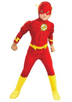 The flash Muscle Kids DC comic Superhero fancy dress fantasia halloween costumes disfraces for child boy's cosplay clothing Diy Superhero Costume, Superhero Fancy Dress, Superhero Halloween, Toddler Costumes, Boy Costumes, Super Hero Costumes, Halloween Fancy Dress, Halloween Cosplay, Halloween Costumes For Kids