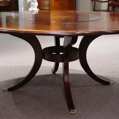 Round Dining Table, Dining Room Table, Lazy Susan Table, House Design, Cherry, Wood, Kitchen, Furniture, Restaurant