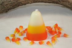 Candy Corn Candle Scented in Sweet Candy by CountryRichCreations