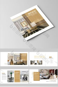 Creative atmosphere Europe and the United States simple style home Brochure full product Brochure  #pikbest #brochure #home #design #interiordesignideas #template #magazine #decoration Hotel Brochure, Brochure Layout, Brochure Design, Home Album, Art Deco Living Room, Interior Design Portfolios, Booklet Design, Design Poster, Identity