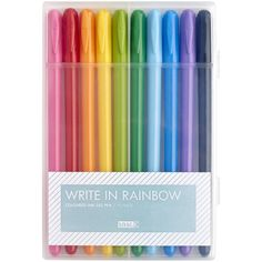 RAINBOW GEL PEN 10PK ESSENTIAL ($15) ❤ Liked On Polyvore Featuring Home,  Home