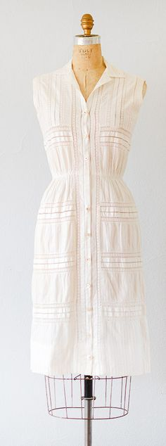 vintage 1950s dress | vintage 50s cotton dress