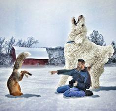 Un photographe rend un vibrant hommage à son chien en faisant de lui un géant